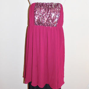 2 2x Torrid Burgandy Sequins Stretch Short Dress